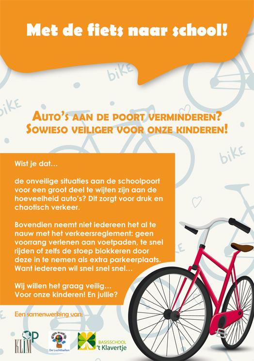 flyers verkeersactie a5 - oranje